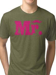 Mr Mustache 2 Tri-blend T-Shirt