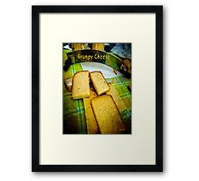 Grungy Cheese Framed Print