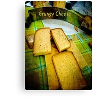 Grungy Cheese Canvas Print
