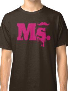 Ms. Mustache2 Classic T-Shirt