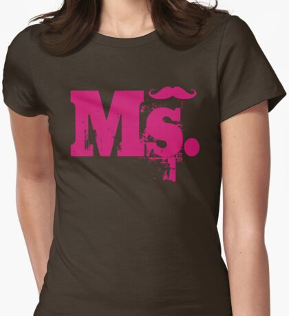 Ms. Mustache2 Womens Fitted T-Shirt