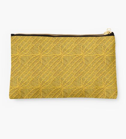 Yellow Lines Knit Studio Pouch