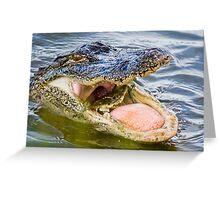 Gator Eating Crab Greeting Card