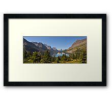 Saint Mary Lake & Wild Goose Island Framed Print