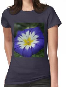 Flower Blue Womens Fitted T-Shirt