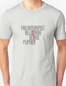 Genius Billionaire Playboy Philanthropist [Dark/Red] T-Shirt