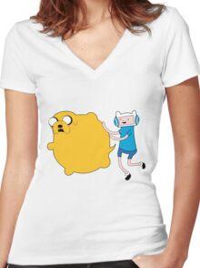 Katmari Time V. 2! Women's Fitted V-Neck T-Shirt