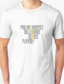 Genius Billionaire Playboy Philanthropist [Dark/Yellow] T-Shirt