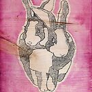 Bunny Love (on wood)  by fixtape