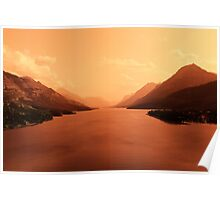Upper Waterton Lake, Waterton National Park Poster