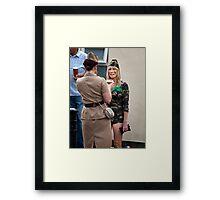 Dressed For Action Framed Print