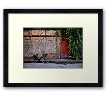 The Lonely Bicycle Framed Print