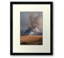 Fire in Yellowstone Framed Print