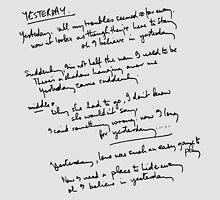 Yesterday Lyrics by elisc