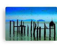 Dock of the Bay... Canvas Print