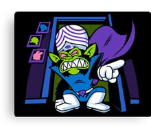 Evil Mojo in our Closet Canvas Print