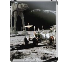 Apollo on Moon with a special guest iPad Case/Skin