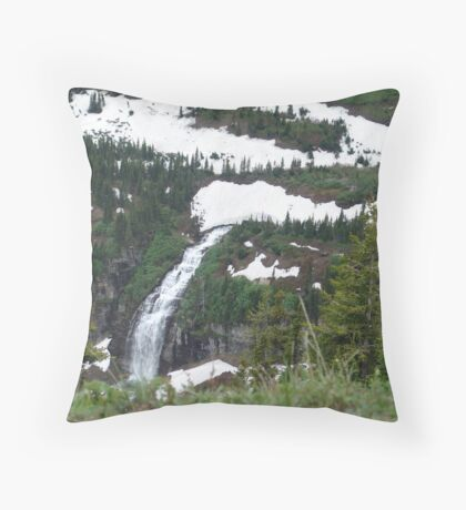 GLACIER MELT Throw Pillow