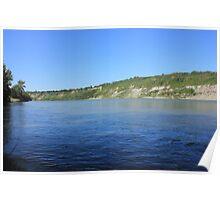 Beautiful blue water - North Saskatchewan River Poster