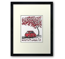 LOVE BUG     red Framed Print