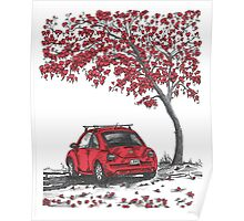 LOVE BUG     red Poster