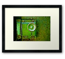 Green Door Knob Series 3 of 3 Framed Print