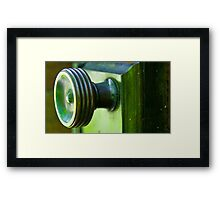 Green Door Knob Series 2 of 3 Framed Print