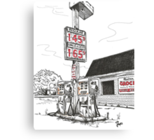 GAS PUMPS Canvas Print