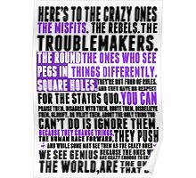 Piece a Week #32: The Crazy Ones Poster