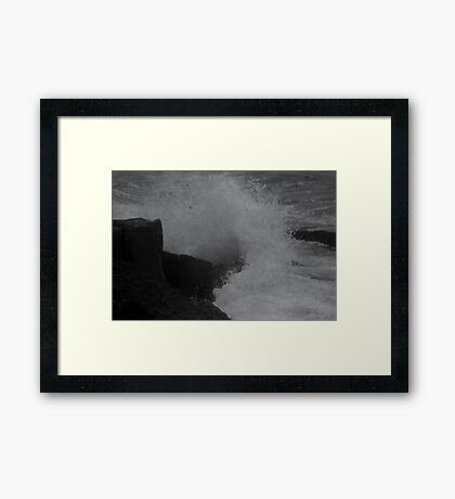 Crashing Of Waves  Framed Print