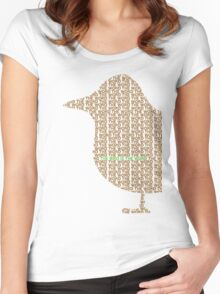 Bird is the Word Women's Fitted Scoop T-Shirt