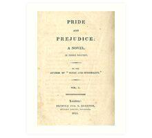 PRIDE and PREJUDICE Novel Cover Art Print