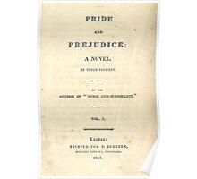 PRIDE and PREJUDICE Novel Cover Poster