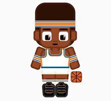 Basketball Blue and Orange Unisex T-Shirt