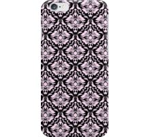Black And Pink Vintage Floral Damasks Pattern iPhone Case/Skin