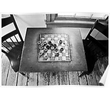 Checkers Table Poster