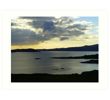 Late Evening On The Donegal Atlantic Drive Art Print