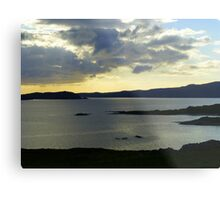 Late Evening On The Donegal Atlantic Drive Metal Print