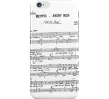 Tear Me Down ~ Hedwig and the Angry inch ~ Sheet Music Collection iPhone Case/Skin