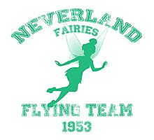 Tinkerbell - Flying Team of Neverland Photographic Print