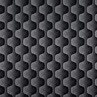 Black And Gray Geometric Shapes Pattern by artonwear