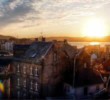 Sunset in Bergen by Davgoss