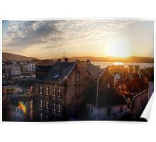 Sunset in Bergen Poster