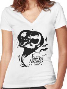 OxVegas Women's Fitted V-Neck T-Shirt