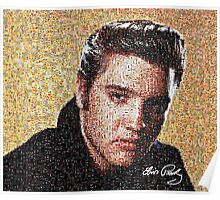 Mosaic of Elvis Presley Poster