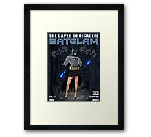 BATGLAM - THE CAPED CRUISADER! Framed Print