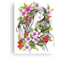 Tangled - Watercolor & ink Illustration  Canvas Print