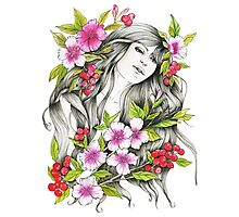 Tangled - Watercolor & ink Illustration  Photographic Print