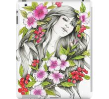 Tangled - Watercolor & ink Illustration  iPad Case/Skin