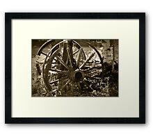 Vintage Wagon Wheels Framed Print